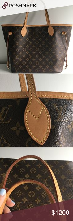 Louis Vuitton like new Monogram Neverfull MM purse 100% authentic. Like new condition. Treated like gold and I don't wear it often enough so I am selling it. MM size. Leather is starting to get darker, but it still is almost new. Smoke free and pet free home. Only imperfection I see is a small dark spot on the top leather of the handbag as shown. 🅿️🅿️ is accepted. ❌NO TRADES❌ Louis Vuitton Bags Shoulder Bags