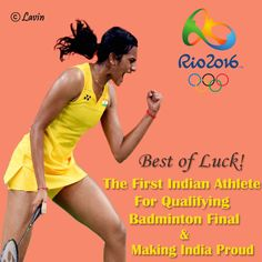 Wish you Good Luck to #PVSindhu from team Lavin!  We are proud of you! #RIO2016