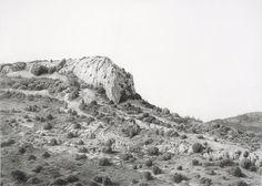 """carlos castillo seas - """"costera"""". lápiz y polvo de grafito sobre papel (pencil and graphite powder on paper)"""