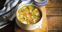 Hearty Turkey Soup - Save-On-Foods Save On Foods, Turkey Soup, Cheeseburger Chowder, Thai Red Curry, Good Food, Food And Drink, 20 Minutes, Fresh, Ethnic Recipes
