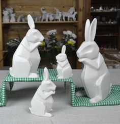 Ceramic Origami Rabbit