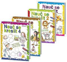 Kniha Komplet Nauč se kreslit 1 - 2. vydání + Nauč se kreslit 2 + Nauč se kreslit 3 + Nauč se kreslit 4 | bux.cz