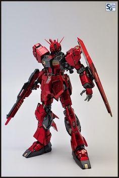GUNDAM GUY: MG 1/100 Nu Gundam Ver. Ka - Metallic Colors Painted Build