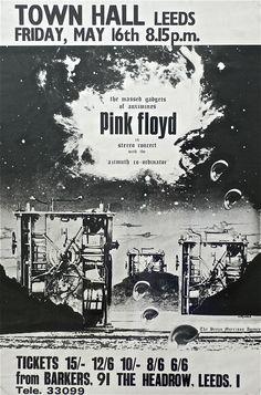 1969 Hipgnosis Designed UK Concert Poster