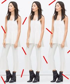 Perfect Pants For Petite Women | We tackle four different pant categories and showcase some of the best options out there for petite limbs. #refinery29 http://www.refinery29.com/perfect-pants-for-petites