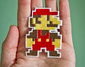 MARIO-- Nintendo Throwback Embroidered Iron-on NES Patch