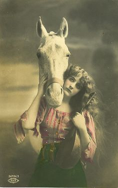 Vintage gypsy with horse