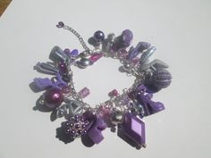 Extra full Purple and Silver  Barbie shoe bracelet / ITEM 3322