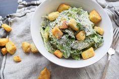 Caesar Salad SWANK NOTE:  Fat free yogurt and fat free mayonnaise.  No parmesan cheese unless Sap Sago cheese or alternative nondairy Parmesan recipe.