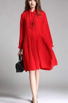 Plus Size Loose Fall Chiffon Long Shirt Dresses Women Clothes
