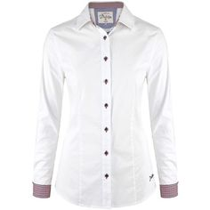 Women's Dubarry Carnation Blouse (1,730 THB) ❤ liked on Polyvore featuring tops, blouses, white embroidered blouse, embroidered shirts, long sleeve button shirt, white long sleeve shirt and extra long sleeve shirts