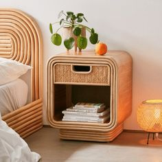 aesthetic bedroom If boho is your aesthetic, the Ria Nightstand has your name written all over it. 70s Bedroom, Retro Bedrooms, Modern Bedroom Decor, Living Room Bedroom, Bedroom Sets, Living Rooms, Small Bedrooms, Decor Room, Guest Bedrooms