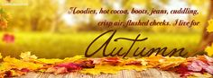 Hoodies Hot Cocoa Boots Jeans Cuddling Autumn Facebook Cover coverlayout.com