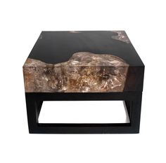 Cracked Resin Coffee Table With Base | Andrianna Shamaris
