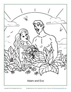 Adam and Eve Disobeyed God Coloring Page Adam and Eve Bible