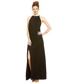 3bcfcd93f95 Trina Turk Imma High Slit Halter Maxi Dress