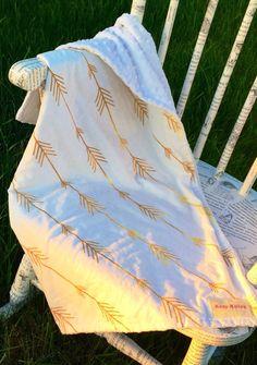 Gold+Arrow+Minky+Baby+Blanket++Minky++Minky+Blanket++by+KozyKittos