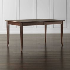 $800 Cabria Honey Brown Extension Dining Table by Crate & Barrel