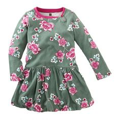 Tea Fall 2013 Jianzhi Floral Bubble Dress in pine - $35