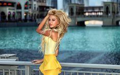 Download wallpapers Ekaterina Fetisova, beauty, blonde, photomodels, beautiful girls