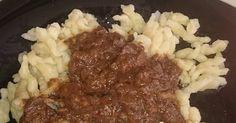 Mennyei Vörösboros marhapörkölt Kata módra recept! Ízletes finom marhapörkölt jó sok vörösborral és jó csípősen! :) Beef, Meat, Steak