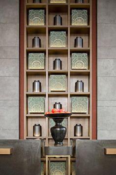 比国际五星酒店更惊艳的售楼处设计   集艾设计   室内设计联盟 Japan Interior, Home Interior Design, Interior Styling, Shelf Design, Wall Design, Diy Projects Outdoor Furniture, Chinese Tea Room, Modern Chinese Interior, Asian Room