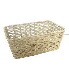 Organizing Essentials Rect Seagrass Open Weave Basket