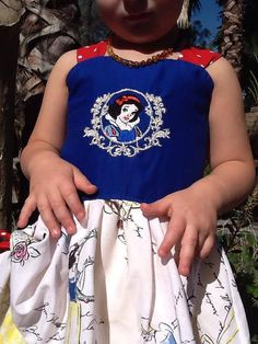 Girls Toddler Snow White Embroidered Dress by SSBSimplySewBoutique