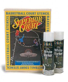 Easily Create Basketball Court Lines with Court Stencil Kit