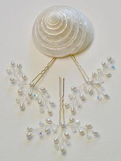 Boda accesorios para el cabello horquillas por RoslynHarrisDesigns