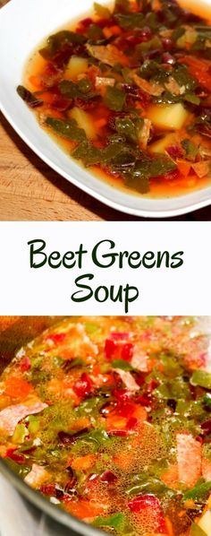 Botvinya is delicious soup with beet greens, beet stalks, leaves. Optionally, add salami or other meat. But you can prepare it without any meat for vegan and vegetarians.