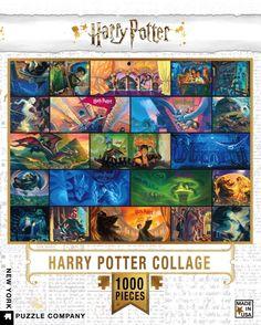 New York Puzzle Company - Harry Potter Harry Potter Collage - 1000 Piece Jigsaw Puzzle Harry Potter Crest, Harry Potter Merchandise, Harry Potter Marauders, Harry Potter Books, Harry Potter Memes, Usa Puzzle, Puzzle Art, Puzzle Toys, Noble Collection Harry Potter