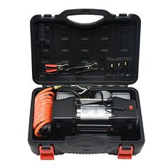 MarchInn DC 12V Double Cylinder Portable MultiUse HeavyDuty Air Compressor Tire Inflator Pump with LED Worklight150 PSI *** Check out this great product.