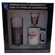 Ensemble comprenant une tasse, un buck et un verre à shooter des Capitals de Washington! Autres modèles disponibles.