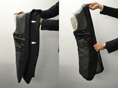 How to pack a suit jacket