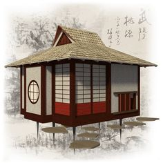 Japanese Tea House Plans With Construction Process complete set of tea house plans construction progress + comments complete material list + tool list DIY building cost $1 900 FREE sample plans of one of our design