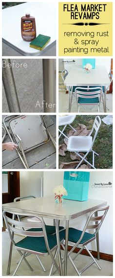 How to Paint Vintage Metal Chairs  Best Vintage metal chairs and
