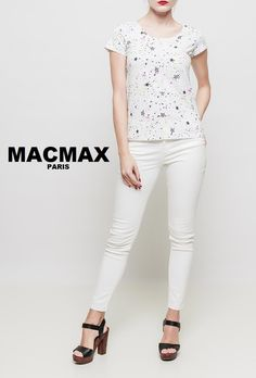 MACMAX New white top - collection SS17