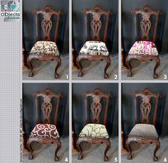 Mudar o estofo é uma das formas de renovar uma cadeira, a escolha do tecido vai definir e marcar o seu estilo ... https://www.facebook.com/objecta.segunda.mao/photos/a.502677349868970.1073741830.501864669950238/689117444558292/?type=3&theater