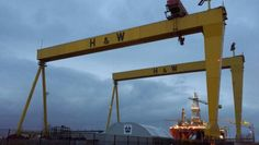 Belfast harland and wolff samson and goliath cranes