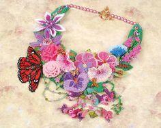 2011  Seed Bead: Jewellery - 2nd Jill Hunter   'English Country Garden'