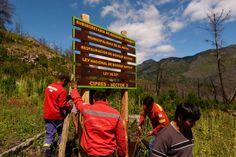 Subsecretaría de Bosques colocó cartelería alusiva a especies nativas recuperadas en senderos turísticos http://www.ambitosur.com.ar/subsecretaria-de-bosques-coloco-carteleria-alusiva-a-especies-nativas-recuperadas-en-senderos-turisticos/ Como parte del programa de restauración de las especies nativas, se difunden en la Cordillera los trabajos efectuados con invitación destinada a los visitantes a recorrer los sitios que cuentan con plantaciones del lugar.     El Gobier