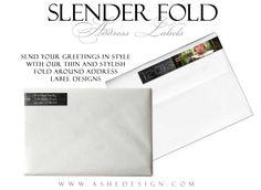 Slender Fold Address Labels - Skinny Labels - ashedesign.com