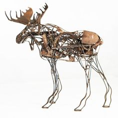 Malen Pierson is a folk artist, collector of found objects and a true innovator when it comes to the integration of old tools, farm equipment, antiques and all forms of metal. The scale of his Mangy Moose Sculpture shows his tireless dedication to his art, while the subject matter manifests the effect of his idyllic surroundings in the Wasatch Mountains near Salt Lake City, Utah.