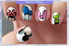 Manicure Inspirada - Disney (nail art) http://petitandy.com