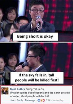 Being Short Is Okay #funny #meme