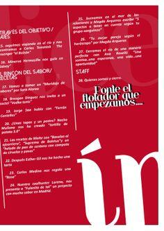 Indice Gaman Magazine 4. Marzo 2014. Pág 2 de 2.