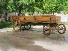 WoodCraft - Изготовление мебели ручной работы в Павлограде - Длинная деревянная четырех колесная повозка своими руками (Первое изображение)