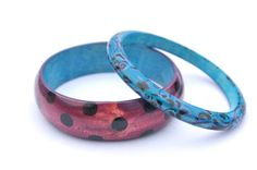 Bangle Bracelet Hand Painted Jewelry  Polka by TheSkinnyThicket, $14.99