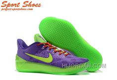 0dd388bc7c7c Nike Kobe A.D. Sneakers For Men Low Purple Green New Style W8eYj